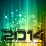 2014 New Year Colorful Background. For your  Party invitations Stock Photo