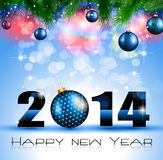 2014 New Year Colorful Background Stock Photos