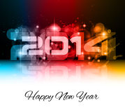 2014 New Year Colorful Background. For your  Party invitations Royalty Free Stock Photography