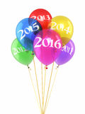 New year 2016 Colorful Ballons Stock Photo