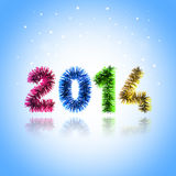 New Year 2014. Colorful card New Year 2014 stock illustration