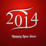 New year 2014 colorful creative design. Vector illustration Stock Illustration