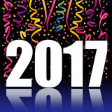 New Year 2017. A colorful graphic celebrating the new year 2017 Royalty Free Stock Photography