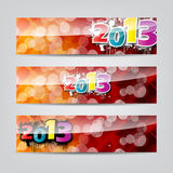 New year colorful header and banner set Stock Photos