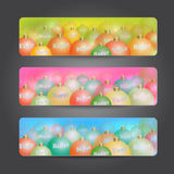 New Year colorful headers Royalty Free Stock Images