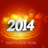 New Year 2014 colorful stylish holiday greeting ca Stock Photography