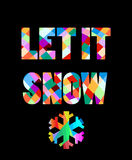 New year 2016 colorful text design with the snowflake. The vector picture. EPS 8 Royalty Free Stock Image