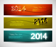 2014 New year colorful three headers and banners s Stock Image
