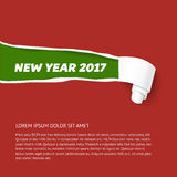 New Year colors hole in cardboard teared sides so as scroll.  Stock Photography