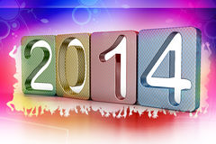 New year 2014. In colour background Royalty Free Stock Image