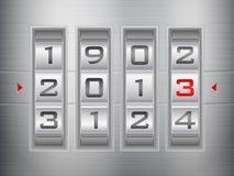 New year combination lock. Metallic combination lock 2013 New Year Royalty Free Illustration
