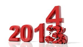 New year 2014. The new year 2014 is coming Vector Illustration