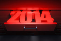 New year 2014. Are coming Stock Photos