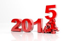 The new year 2015. Is coming vector illustration