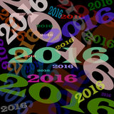 New Year is coming. Abstraction on a theme of the new year 2016 Stock Image