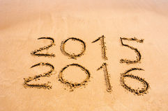 New Year 2016 is coming concept - inscription 2015 and 2016 on a Royalty Free Stock Photo