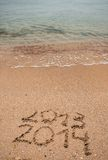 New Year 2014 is coming concept Royalty Free Stock Image