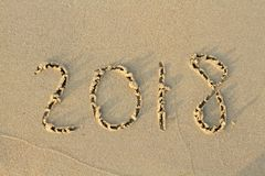 New Year 2018 is coming concept. stock images