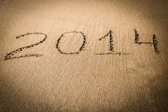 New Year 2014 is coming concept Stock Images