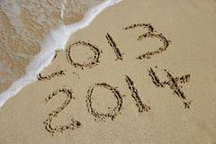 New Year 2014 coming concept Stock Photography