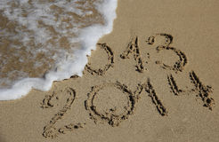 New Year 2014 coming concept Royalty Free Stock Photos