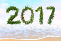 2017 New Year coming royalty free stock photos