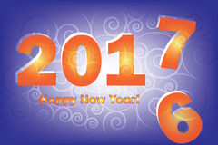 New Year 2017 is coming. Happy New Year 2017 replace 2016 year. New Year 2017 is coming. Happy New Year 2017 replace 2016 year Stock Photos