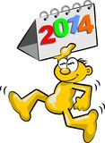The new year 2014 is coming Stock Photo