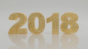 2018. New year 2018 is coming stock footage