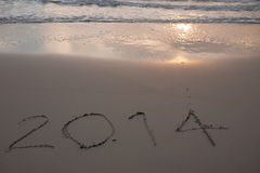 New Year 2014 coming Royalty Free Stock Photos