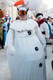 New year competition of snowmen... Royalty Free Stock Photo