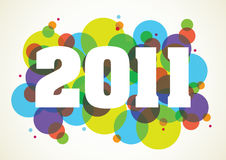 New year composition. Happy new year vector composition Royalty Free Stock Image