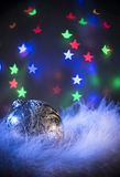 New Year composition with bokeh effect Royalty Free Stock Images