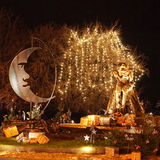 New Year composition in Evian-les-Bains in France Stock Images