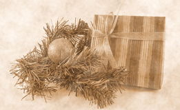 New Year composition sepia royalty free stock photos