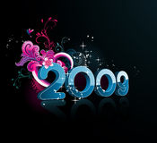 New year composition vector Royalty Free Stock Photo