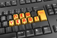 New Year!. This is a computer generated and 3d rendered picture Stock Image