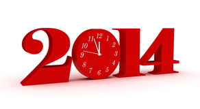 New Year 2014. (computer generated image Stock Images