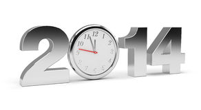 New Year 2014. (computer generated image Stock Photos