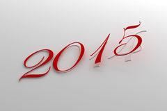 New Year 2015 and 2014. (computer generated image Stock Photography