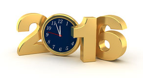 New Year 2016. (Computer generated image Royalty Free Stock Images