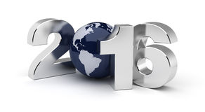 New Year 2016. (Computer generated image Royalty Free Stock Photo