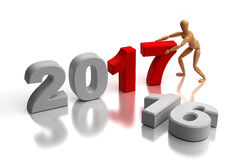 New Year 2017. Computer generated image stock illustration