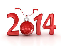 New year. 2014, computer generated image. 3d render Stock Image