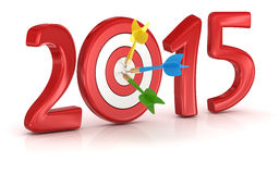 New year 2015. Computer generated image. 3d render stock illustration