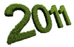 New Year concept. Grass 2011 figures; 3D rendered image Royalty Free Illustration