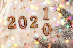 Free New Year Concept 2020 Change To 2021 Royalty Free Stock Photos - 165133008