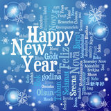 New Year Concept. From Tag Cloud on Bright Background, vector illustration vector illustration