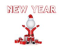 New year concept. Isolated on white background.3d rendered Royalty Free Stock Images