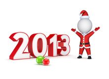 New year concept. Isolated on white background.3d rendered Stock Image